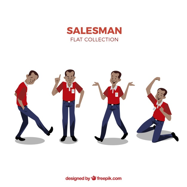 Salesman in different situations