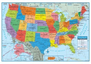 US Poster-Sized Paper Map