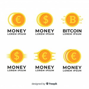 Money concept logo template collection