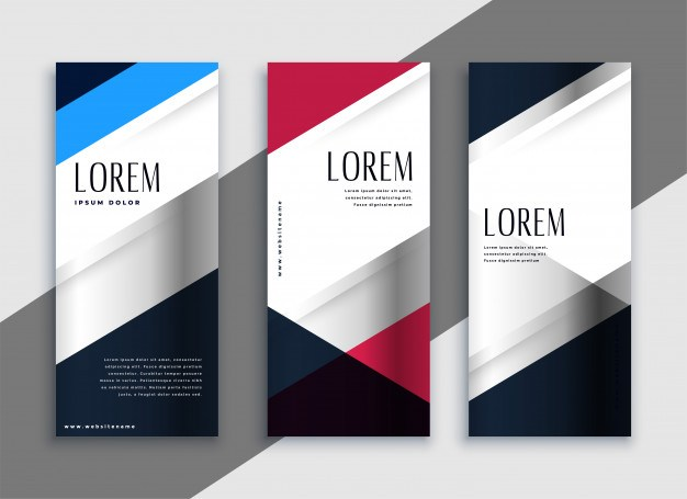 Geometric business vertical banners design