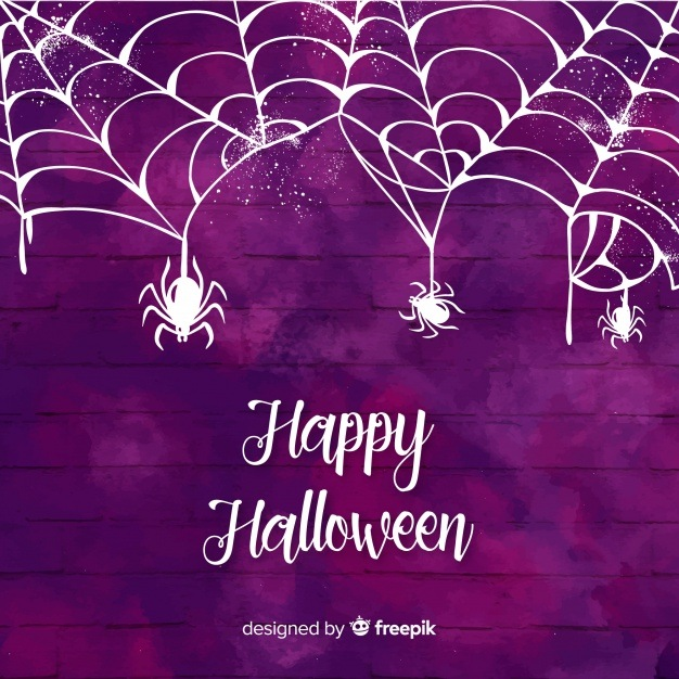 Halloween purple watercolor background