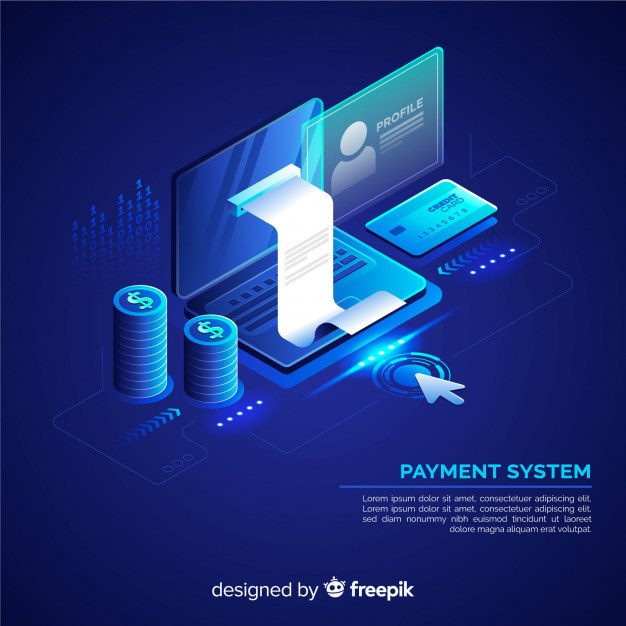Isometric payment system background