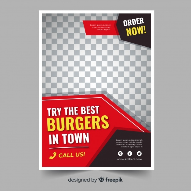 Modern restaurant flyer template