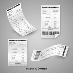 Receipt template collection with realistic design