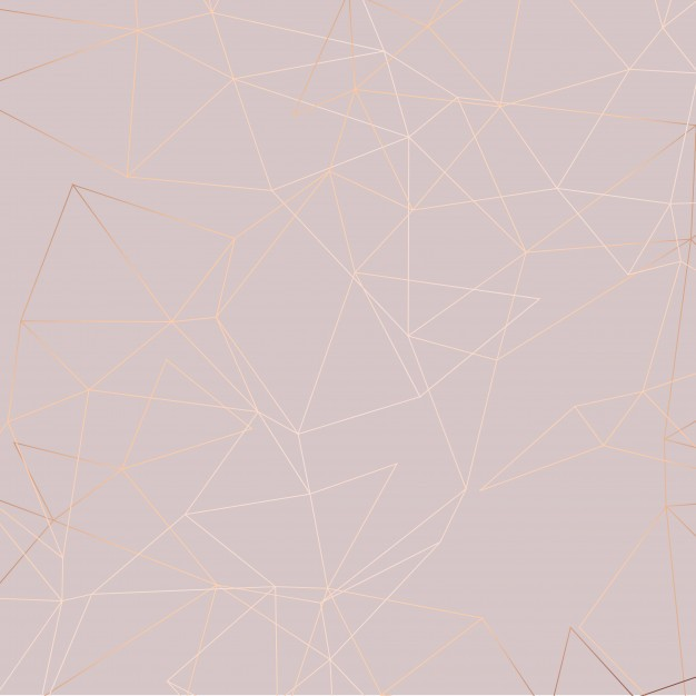 Rose gold low poly background