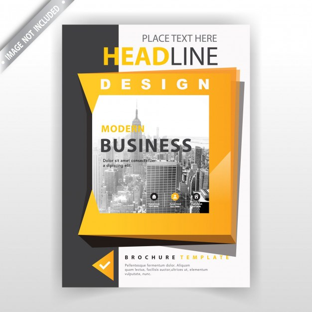 Yellow abstract shape detailed flyer