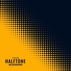 Yellow and black haltone pattern design