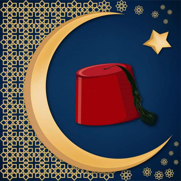 Turkish traditional red hat fez or tarboosh