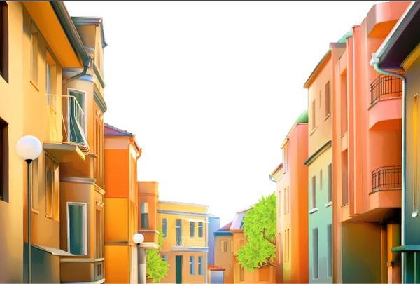 City house vectors material 01