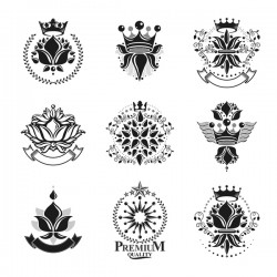 Hight Quality Royal Labels vector 01