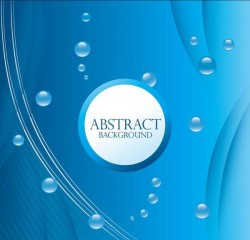 Water drop with blue abstract background vector