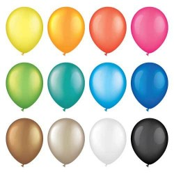 12 kind colored balloon vector illustration