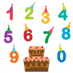 Number with birthday cake vector