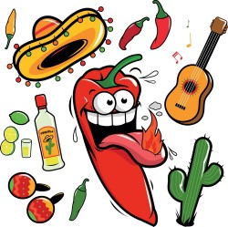 Cartoon pepper funny vector illustration