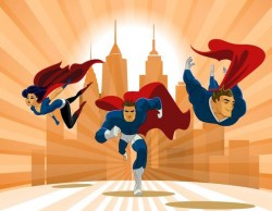 superhero team poster design vector 04