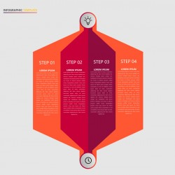 Minimalistic design infographic template vectors material 17