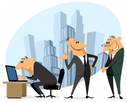 Funny cartoon professional staff of office vector 03