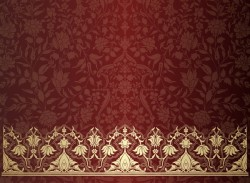Vintage decorative pattern with floral seamless border vector 10