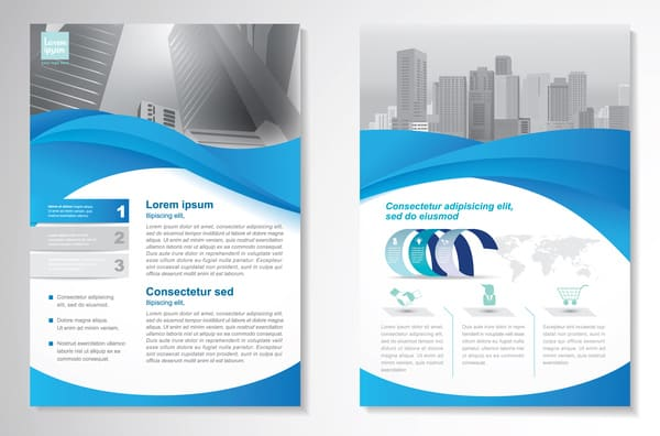 Abstract business flyer with brochure cover template vector 10