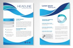Abstract business flyer with brochure cover template vector 02