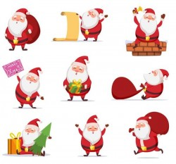 Santa with christmsa illustration vector
