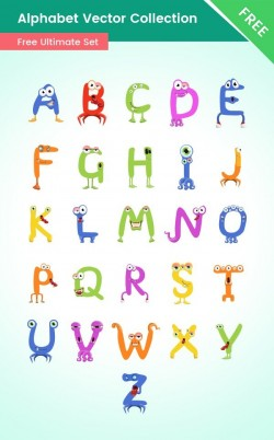 Alphabet Cartoon Characters