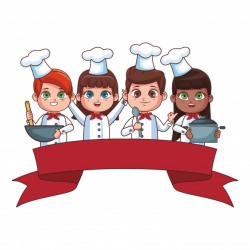 Cute chef children cartoon