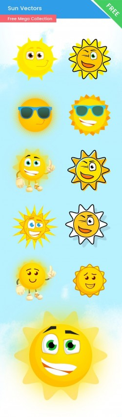 Free Vector Sun Characters