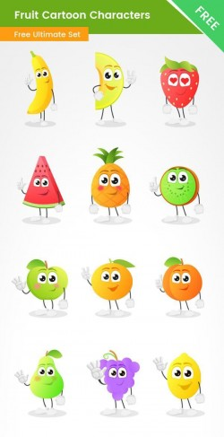 Fruit Vector Cartoon Free Collection