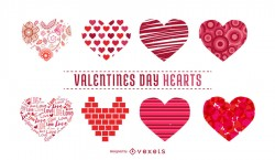 Heart illustrations collection