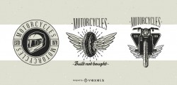 Motorcycle Classic Badges Design