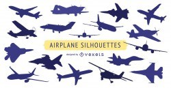 Airplane silhouette collection