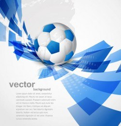 Blue Sport Background with Twisted Rectangles