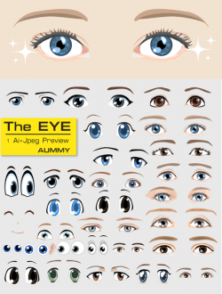 Cartoon eyes collection pack