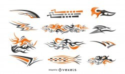 Decals illustration set