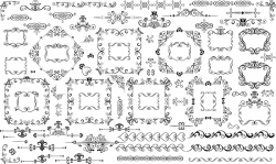 Huge collection of frames and ornament designs