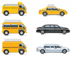Isolated transport icon set