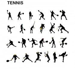 Male & Female Tennis Player Silhouette Pack