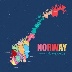 Norway regional county map