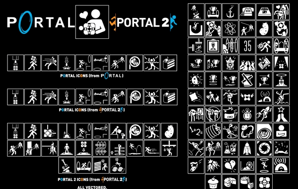 Portal Icon Pack Vector