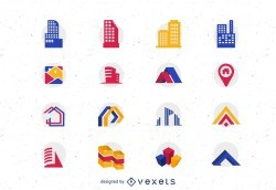 16 Real Estate Vector Icons