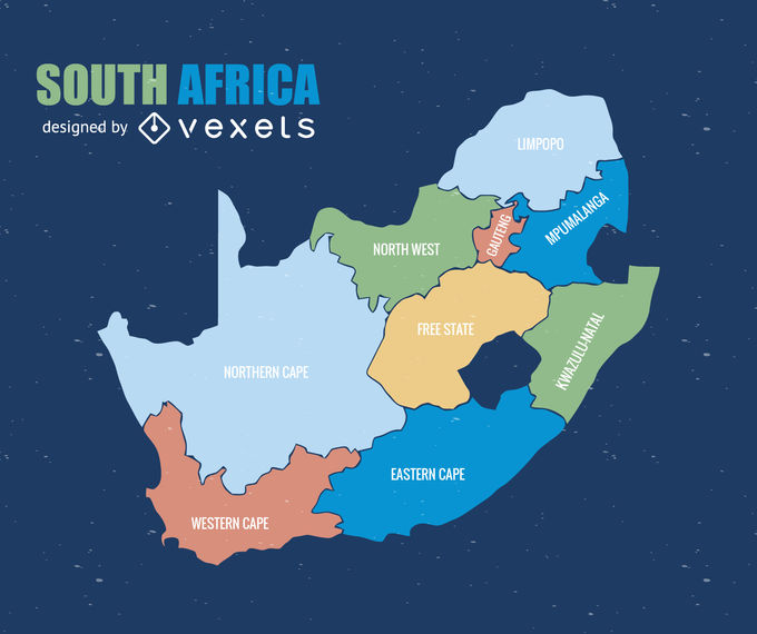 South Africa province map