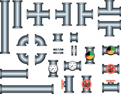 Steel Iron Pipe Vector