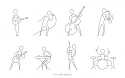 Stroke musician character collection