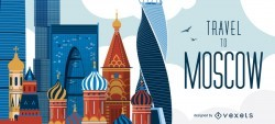 Travel to Moscow skyline