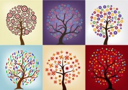 Tree Pack with Beautiful Abstract Decoration
