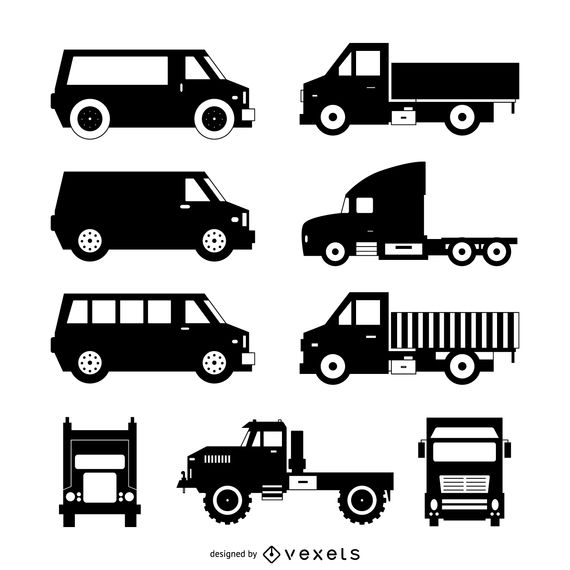 Truck silhouette collection