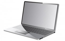 Vector laptop with keyboard map