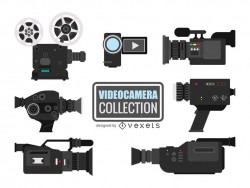 Video camera illustrations collection