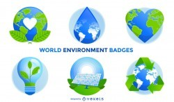 World environment badges